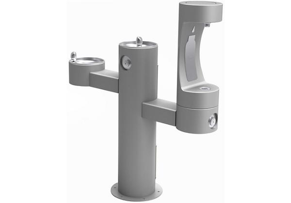 Image for Elkay Outdoor EZH2O Bottle Filling Station Tri-Level Pedestal, Non-Filtered Non-Refrigerated Gray from Elkay Europe and Africa