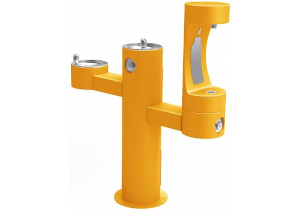 Image for Elkay Outdoor EZH2O Bottle Filling Station Tri-Level Pedestal, Non-Filtered Non-Refrigerated Yellow from Elkay Asia Pacific