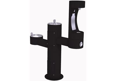 Image for Elkay Outdoor EZH2O Bottle Filling Station Tri-Level Pedestal, Non-Filtered Non-Refrigerated Black from ELKAY