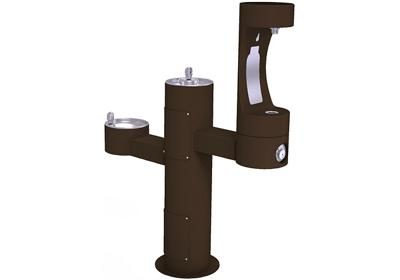 Image for Elkay Outdoor EZH2O Bottle Filling Station Tri-Level Pedestal, Non-Filtered Non-Refrigerated Brown from ELKAY