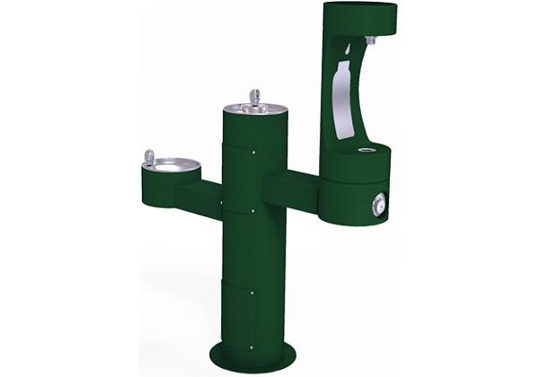 Image for Elkay Outdoor EZH2O Bottle Filling Station Tri-Level Pedestal, Non-Filtered Non-Refrigerated Evergreen from Elkay Europe and Africa