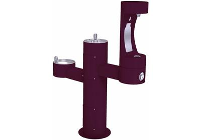 Image for Elkay Outdoor EZH2O Bottle Filling Station Tri-Level Pedestal, Non-Filtered Non-Refrigerated Purple from ELKAY