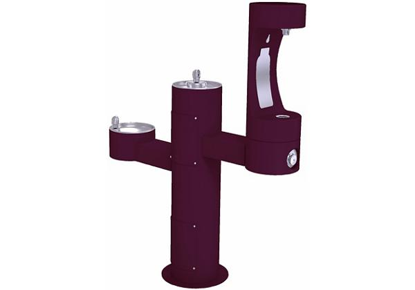 Image for Halsey Taylor Endura II Outdoor HydroBoost Bottle Filling Station, Tri-Level Pedestal, Non-Filtered, Non-refrigerated, Purple from Halsey Taylor