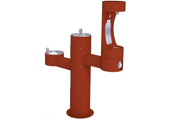 Image for Halsey Taylor Endura II Outdoor HydroBoost Bottle Filling, Station Tri-Level Pedestal Non-Filtered NonRefrige, Terracotta from Halsey Taylor