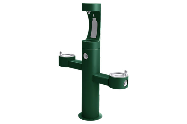 Elkay Outdoor ezH2O Bottle Filling Station Tri-Level Pedestal, Non-Filtered Non-Refrigerated FR