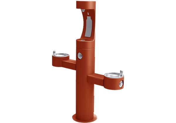 Image for Elkay Outdoor EZH2O Bottle Filling Station Tri-Level Pedestal, Non-Filtered Non-Refrigerated Terracotta from Elkay Asia Pacific