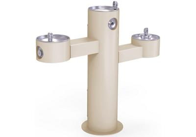 Image for Elkay Outdoor Fountain Tri-Level Pedestal Non-Filtered, Non-Refrigerated Beige from ELKAY