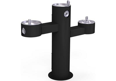 Image for Elkay Outdoor Fountain Tri-Level Pedestal Non-Filtered, Non-Refrigerated Black from ELKAY