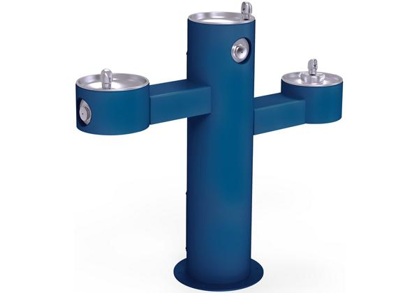 Image for Halsey Taylor Endura II Tubular Outdoor Fountain, Tri-Level Pedestal Non-Filtered Non-Refrigerated, Blue from Halsey Taylor