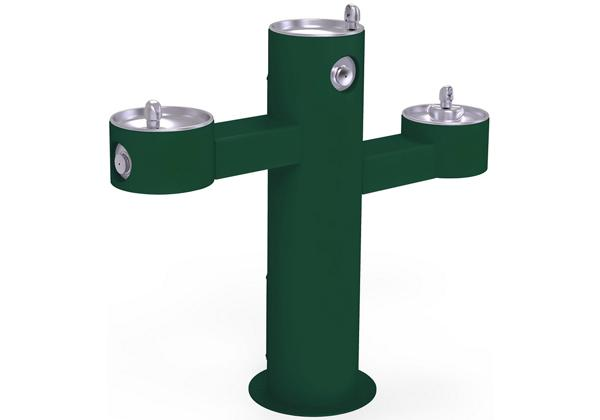 Image for Halsey Taylor Endura II Tubular Outdoor Fountain, Tri-Level Pedestal Non-Filtered Non-Refrigerated, Evergreen from Halsey Taylor