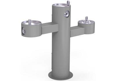 Image for Elkay Outdoor Fountain Tri-Level Pedestal Non-Filtered, Non-Refrigerated Gray from ELKAY