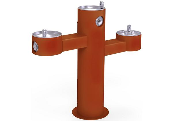 Image for Halsey Taylor Endura II Tubular Outdoor Fountain, Tri-Level Pedestal Non-Filtered Non-Refrigerated, Terracotta from Halsey Taylor