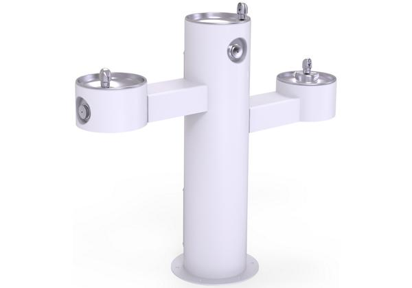 Image for Halsey Taylor EnduraII Tubular Outdoor Fountain, Tri-Level Pedestal, Non-Filtered, Non-Refrigerated, White from Halsey Taylor