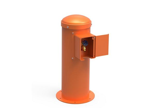 Image for Halsey Taylor Yard Hydrant with Locking Hose Bib, Non-Filtered, Non-Refrigerated, Orange from Halsey Taylor