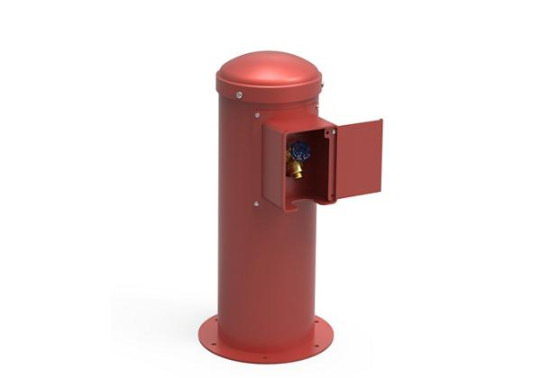 Image for Halsey Taylor Yard Hydrant with Locking Hose Bib, Non-Filtered, Non-Refrigerated, Red from Halsey Taylor
