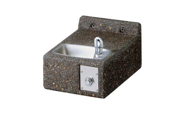 Elkay Outdoor Stone Fountain Wall Mount Non-Filtered, Non-Refrigerated