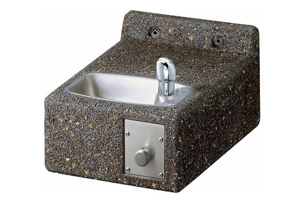 Elkay Outdoor Stone Fountain Wall Mount, Non-Filtered Non-Refrigerated Freeze Resistant