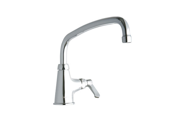 "Elkay Single Hole with Single Control Faucet with 12"" Arc Tube Spout 2"" Lever Handle Chrome"
