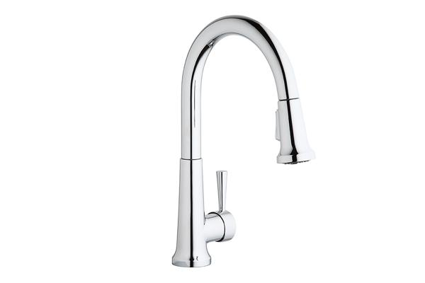 Image For Elkay Single Hole Deck Mount Everyday Kitchen Faucet With  Pull Down Spray Forward