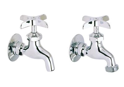 Image for Elkay Commercial Service/ Utility Single Hole Wall Mount Faucet 1 pair Chrome from ELKAY