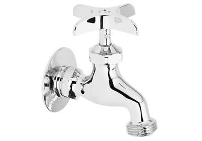 Image for Elkay Commercial Service/ Utility Single Hole Wall Mount Faucet with Hose End Chrome from ELKAY