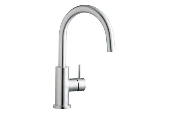 Elkay Allure Single Hole Kitchen Faucet with Lever Handle Satin Stainless Steel