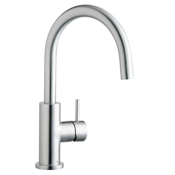 Elkay Allure Single Hole Kitchen Faucet With Lever Handle Satin