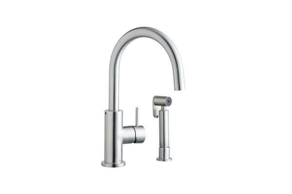 Elkay Allure Kitchen Faucet with Side Spray, Satin Stainless Steel