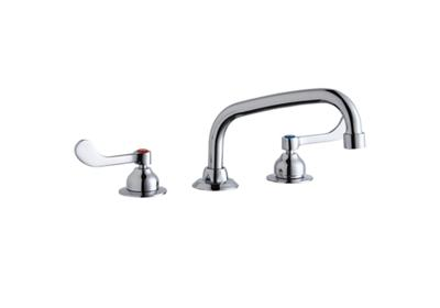 "Image for Elkay 8"" Centerset with Concealed Deck Faucet with 8"" Arc Tube Spout 4"" Wristblade Handles Chrome from ELKAY"