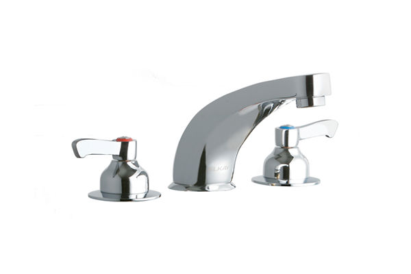 "Elkay 8"" Centerset with Concealed Deck Faucet with 6"" Cast Fixed Spout 2"" Lever Handles Chrome"