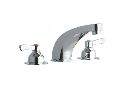 "Image for Elkay 8"" Centerset with Concealed Deck Faucet with 6"" Cast Fixed Spout 2"" Lever Handles Chrome from ELKAY"