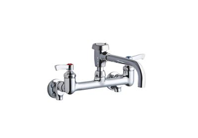 "Image for Elkay Service/Utility 8"" Centerset Wall Mount Faucet with 7"" Vented Spout 2"" Lever Handles 1/2 Offset Inlets+Stop from ELKAY"