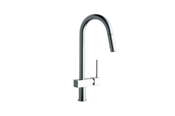Elkay Avado Single Hole Kitchen Faucet with Pull-down Spray and Lever Handle
