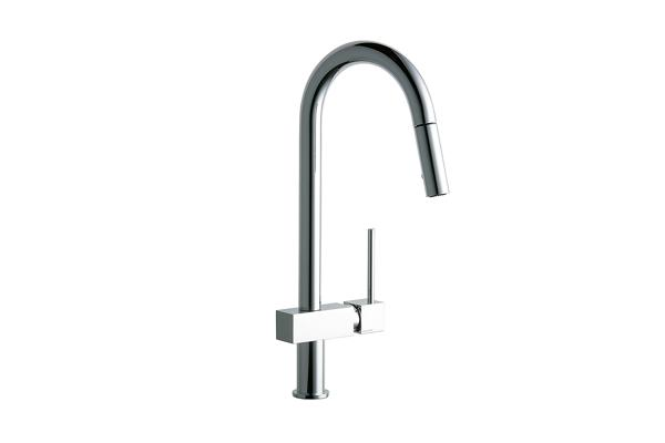 Elkay Avado Single Hole Kitchen Faucet With Pull Down Spray And