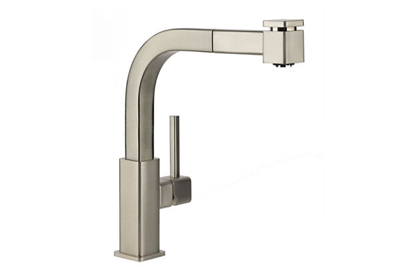 Elkay Avado Single Hole Kitchen Faucet with Pull-out Spray and Lever Handle