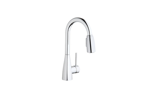Elkay Avado Single Hole Bar Faucet with Pull-down Spray and Forward Only Lever Handle