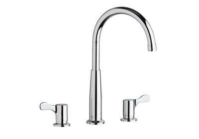"Image for Elkay 8"" Centerset Concealed Deck Mount Faucet with Gooseneck Spout and 2-5/8"" Lever Handles Chrome from ELKAY"