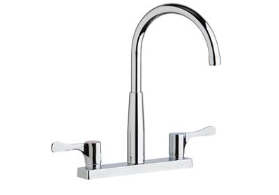 "Image for Elkay 8"" Centerset Exposed Deck Mount Faucet with Gooseneck Spout and 2-5/8"" Lever Handles Chrome from ELKAY"