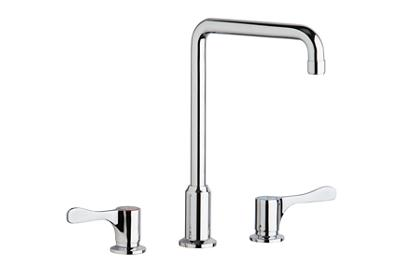 "Image for Elkay 8"" Centerset Concealed Deck Mount Faucet with Arc Tube Spout and 4"" Lever Handles Chrome from ELKAY"