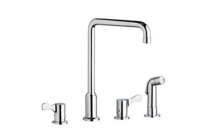 "Image for Elkay 8"" Centerset Concealed Deck Mount Faucet with Arc Spout and 2-5/8"" Lever Handles with Side Spray Chrome from ELKAY"