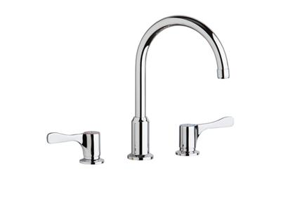 "Image for Elkay 8"" Centerset Concealed Deck Mount Faucet with Arc Spout and 4"" Lever Handles Chrome from ELKAY"