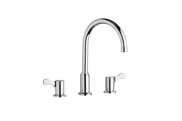 "Elkay 8"" Centerset Concealed Deck Mount Faucet with Arc Spout and 2-5/8"" Lever Handles Chrome"
