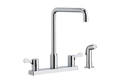 "Image for Elkay 8"" Centerset Exposed Deck Mount Faucet with Arc Spout and 2-5/8"" Lever Handles with Side Spray Chrome from ELKAY"