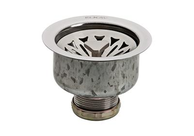 Image for Elkay Drain Fitting Stainless Steel Body with Strainer Basket, Satin Finish from ELKAY