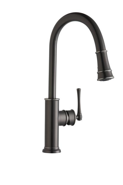 Elkay Explore Single Hole Kitchen Faucet With Pull Down Spray And Forward Only Lever Handle Elkay