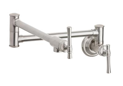 Image for Elkay Explore Wall Mount Pot Filler Kitchen Faucet with Lever Handles Lustrous Steel from ELKAY