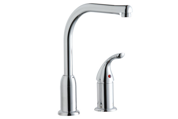 Elkay Everyday Kitchen Faucet, with Remote Lever Handle, Restricted Spout, Chrome