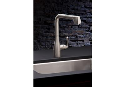 Image for Elkay Gourmet Single Hole Kitchen Faucet with Pull-out Spray and Lever Handle Brushed Nickel from ELKAY