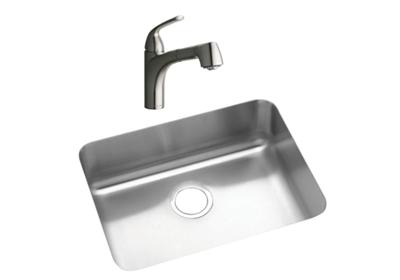 "Image for Elkay Lustertone Stainless Steel 22-1/2"" x 17-1/4"" x 7-1/2"", Single Bowl Undermount Sink + Faucet Kit from ELKAY"