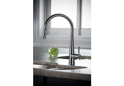 Image for Elkay Harmony Single Hole Kitchen Faucet with Pull-down Spray and Lever Handle from ELKAY